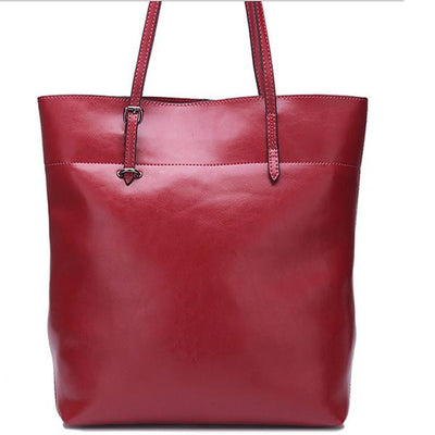 Genuine Leather Tote - Belle Valoure - 16
