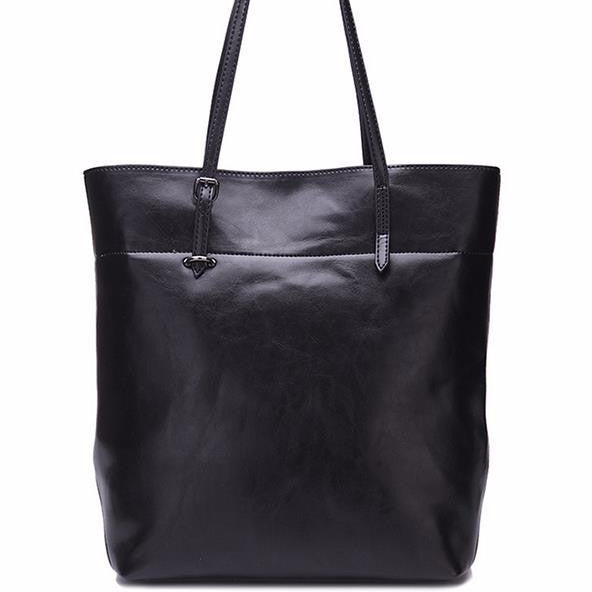 Genuine Leather Tote - Belle Valoure - 1