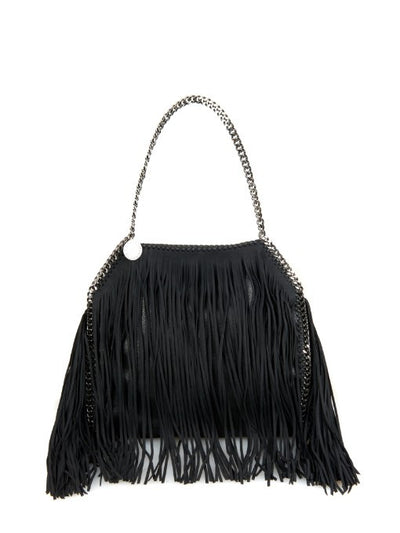 Lux Genuine Leather Fringe Chain Tote Bag - Belle Valoure - 8
