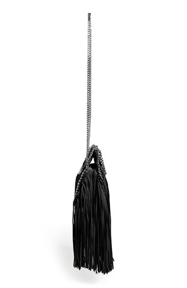 Lux Genuine Leather Fringe Chain Tote Bag - Belle Valoure - 4