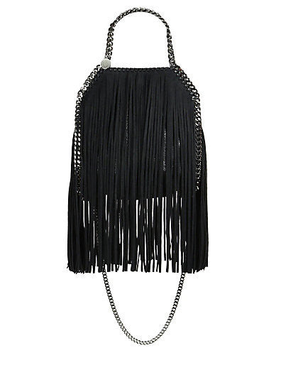 Lux Genuine Leather Fringe Chain Tote Bag - Belle Valoure - 9