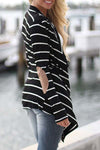 Lila Striped Cardigan - Belle Valoure - 2