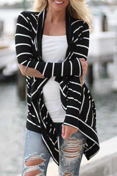 Lila Striped Cardigan - Belle Valoure - 3