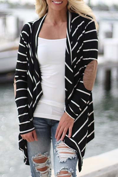 Lila Striped Cardigan - Belle Valoure - 1