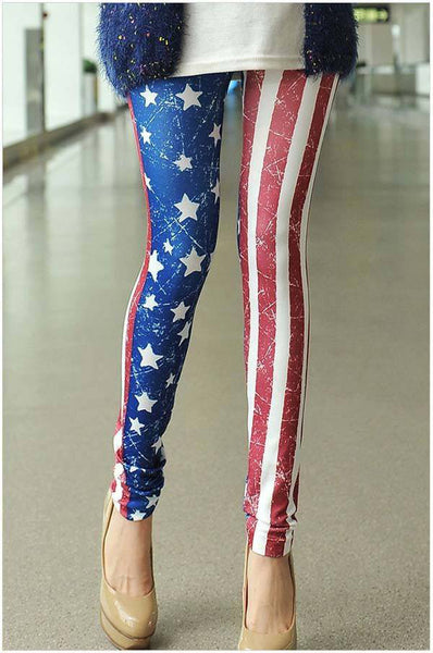 Stars And Stripes Leggings - Belle Valoure - 1