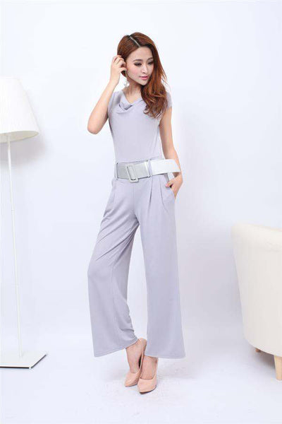 Alexa Belted Jumpsuit - Belle Valoure
