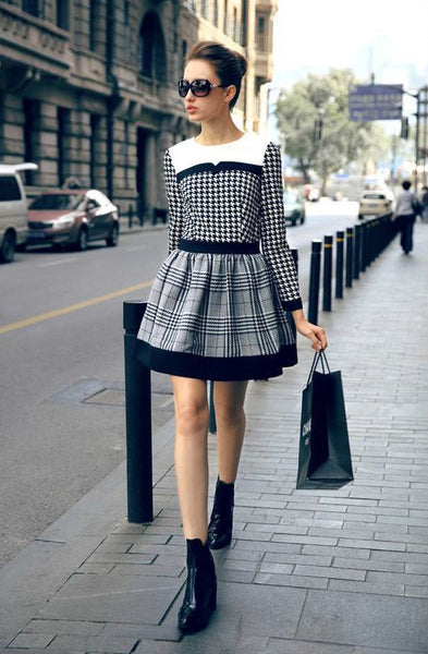 Anaya Plaid Stripe Dress - Belle Valoure - 1
