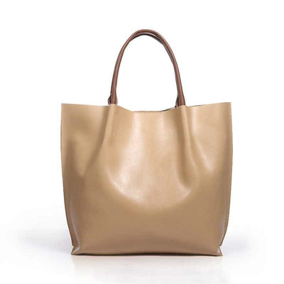 A.L. Genuine Leather Tote - Belle Valoure