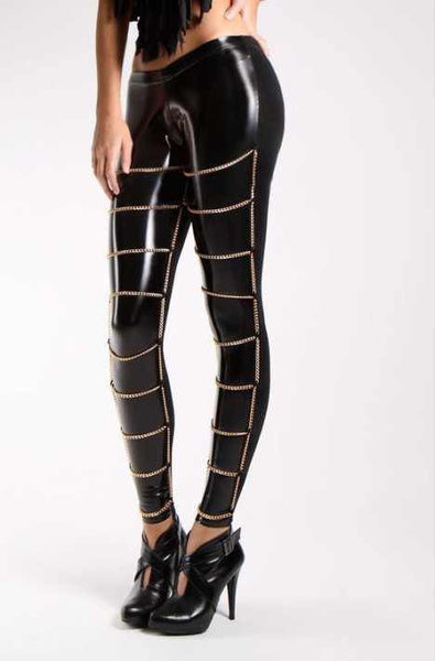 M.M. Chain Detail Leggings - Belle Valoure