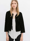 Milay Long Fringe Blazer - Belle Valoure - 1