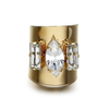 M.M. Crystal Gold Ring - Belle Valoure