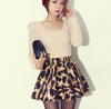 M.M. Leopard Pleated Skirt - Belle Valoure - 1