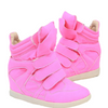 Pink Wedge Sneaker - Belle Valoure - 1