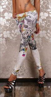 Honey Floral Paint Leggings - Belle Valoure - 1