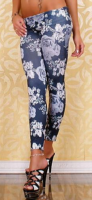 Amar Rose Print Leggings - Belle Valoure