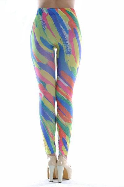 Amayah Paint Print Leggings - Belle Valoure