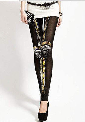 Bead Embellished Leggings - Belle Valoure