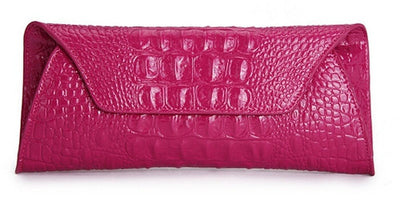 Genuine Leather Alligator Clutch - Belle Valoure - 1
