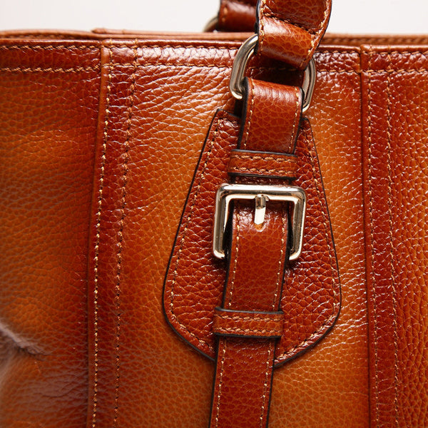 Ember Genuine Leather Handbag - Belle Valoure - 7