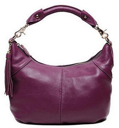 Genuine Leather Shoulder Bag - Belle Valoure - 3