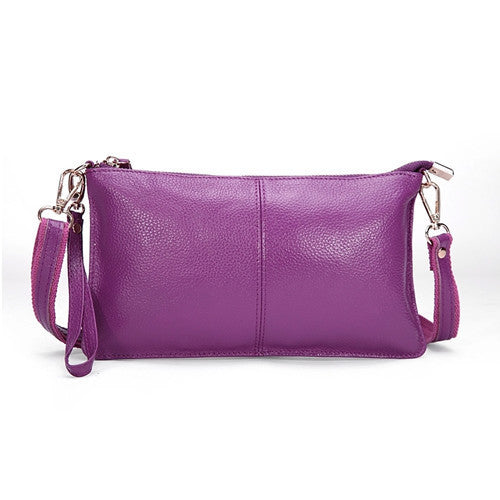 Genuine Leather Envelope Clutch - Belle Valoure - 3