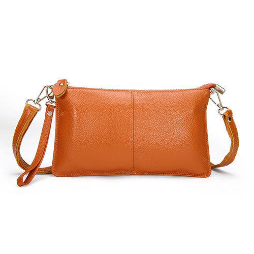 Genuine Leather Envelope Clutch - Belle Valoure - 5
