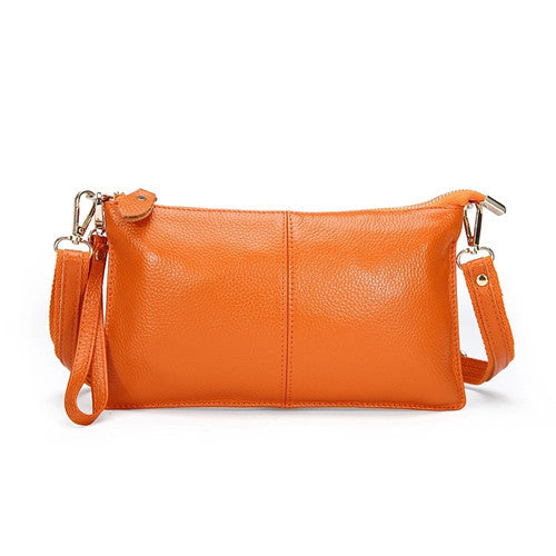 Genuine Leather Envelope Clutch - Belle Valoure - 10