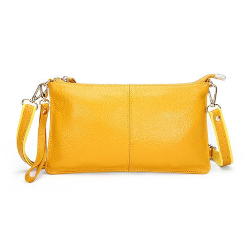 Genuine Leather Envelope Clutch - Belle Valoure - 6