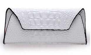 Leather Crocodile Pattern Clutch - Belle Valoure - 6