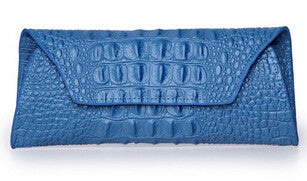 Leather Crocodile Pattern Clutch - Belle Valoure - 7