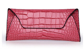 Leather Crocodile Pattern Clutch - Belle Valoure - 2