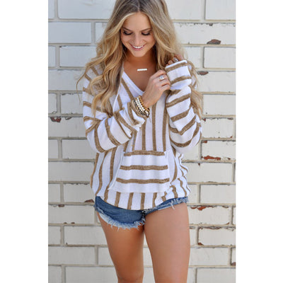 Anaya Long Sleeve Hooded Pocket Sweater
