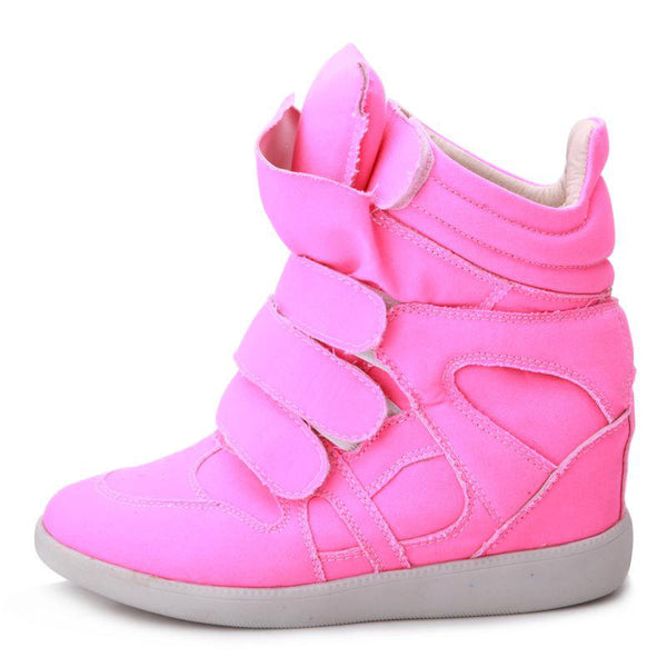 Pink Wedge Sneaker - Belle Valoure - 2