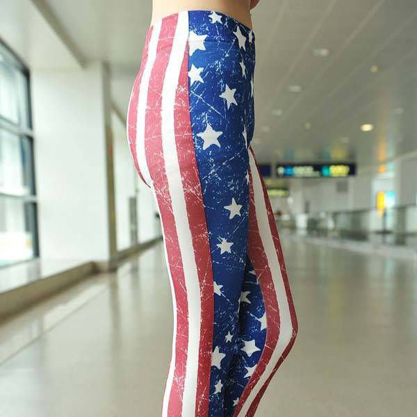 Stars And Stripes Leggings - Belle Valoure - 2