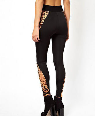 MML Leopard Print Patchwork Leggings - Belle Valoure - 2