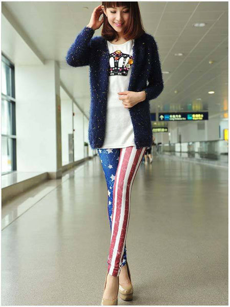 Stars And Stripes Leggings - Belle Valoure - 3