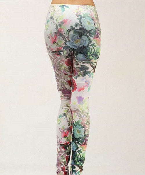 Honey Landscape Print Leggings - Belle Valoure - 3