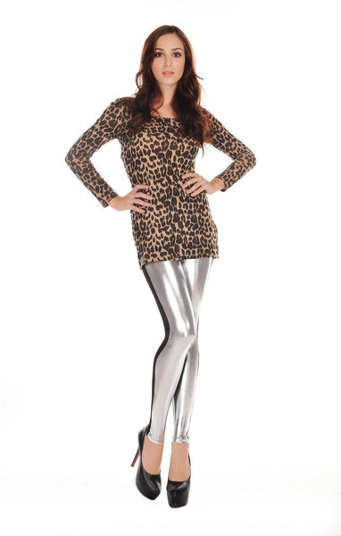 Yara Gold Splice Leggings - Belle Valoure - 3
