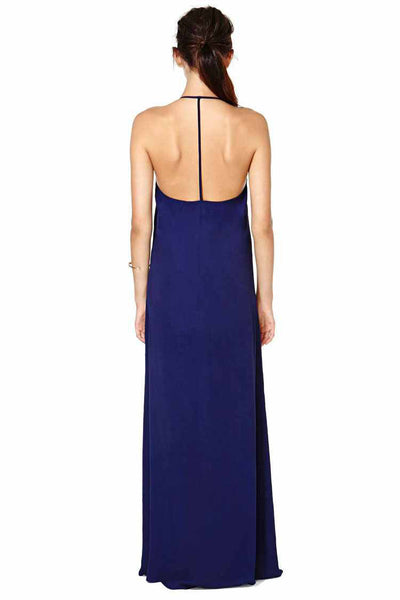 Aine Bohemian String Halter Long Dress - Belle Valoure