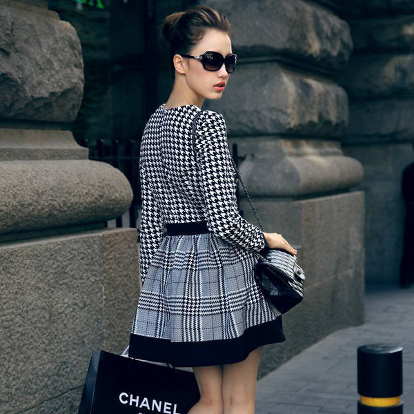 Anaya Plaid Stripe Dress - Belle Valoure - 3