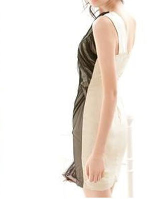 Aline Sheer Layer One Shoulder Dress - Belle Valoure - 4
