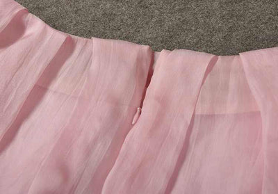 Alize Silk Pleated Skirt Set - Belle Valoure - 5