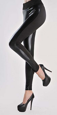 Yara Gold Splice Leggings - Belle Valoure - 5