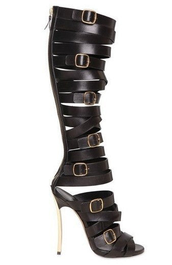 Lora Belted Gladiator Sandals - Belle Valoure - 3