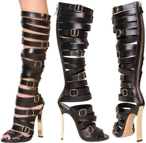 Lora Belted Gladiator Sandals - Belle Valoure - 4