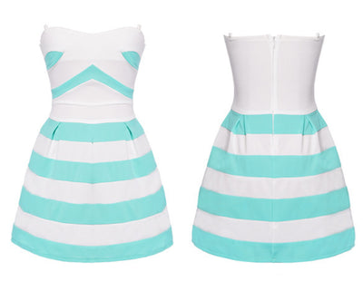 Striped Spring Dress - Belle Valoure - 3