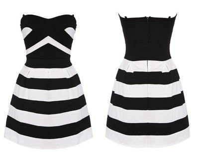 Striped Spring Dress - Belle Valoure - 4
