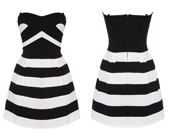 Striped Spring Dress - Belle Valoure - 5