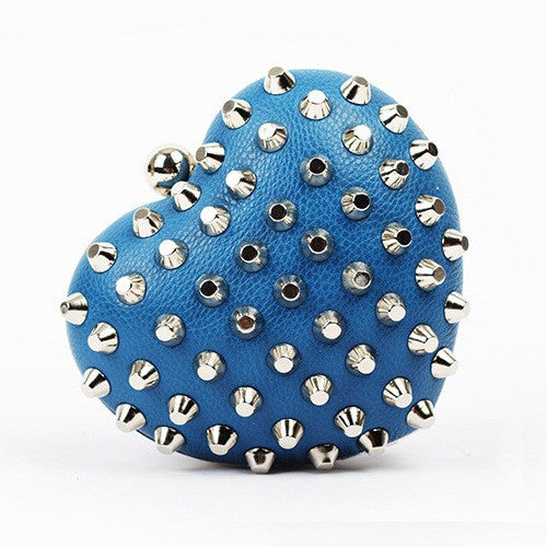 Rivet Heartshaped Clutch - Belle Valoure - 5
