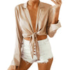 Long Sleeve Tie Blouse